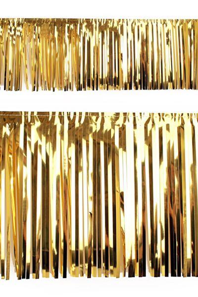 PVC strung foil garland gold