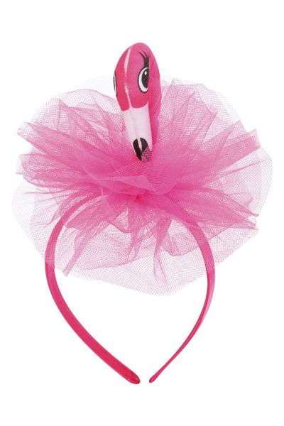 Diadem pink flamingo with tulle tropical festival