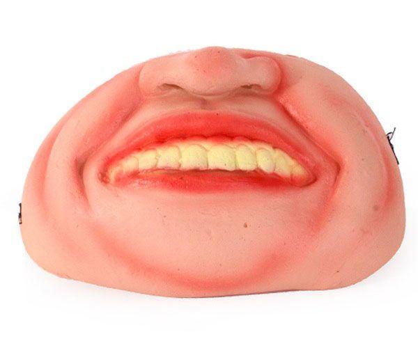 Half mask crooked teeth