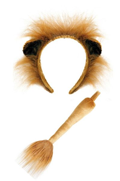 Lion hairband with tail