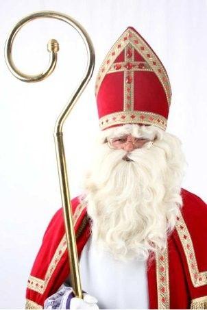 Santa hairbrush beard