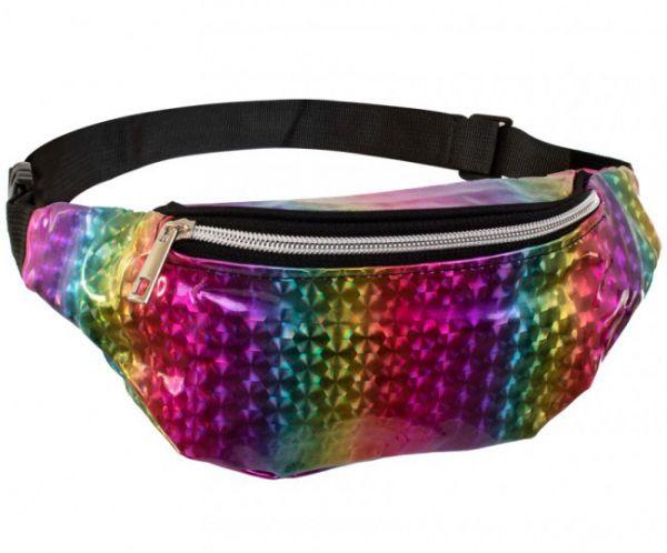 Waist bag rainbow metallic