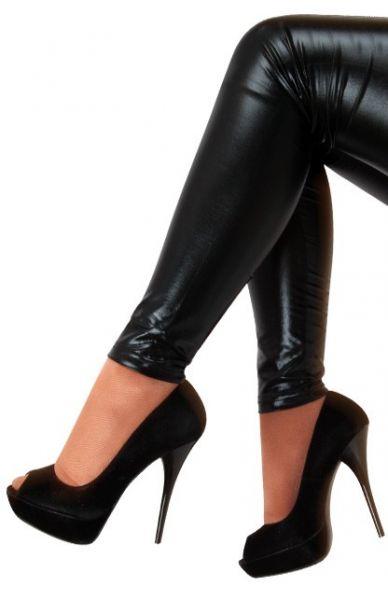 Legging metallic black