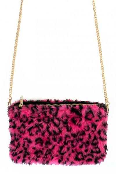 Pink fur panther bag