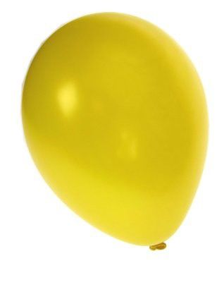 Quality balloon metallic yellow