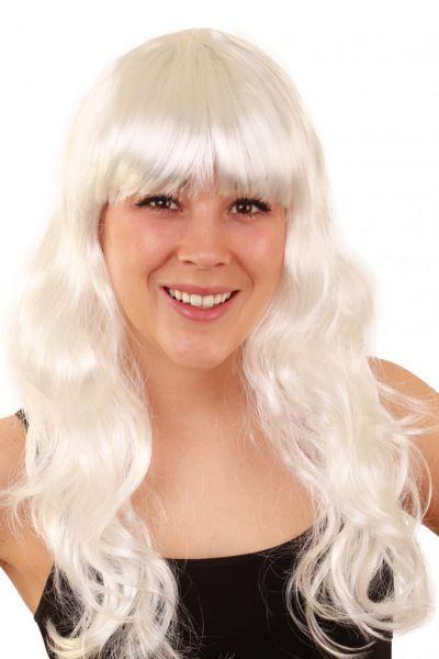 Ladies wig long style hair white sensation