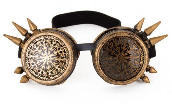 Steampunk glasses spike vintage