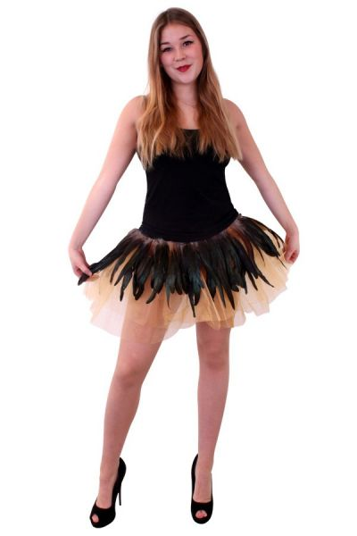 Tulle skirt tulle with feathers
