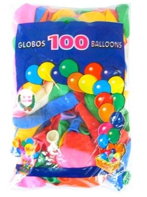 Helium balloons 100 pieces assorted colors nr 12