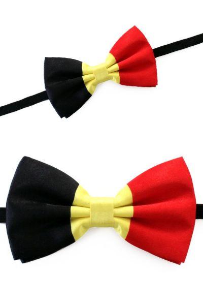 Bow tie satin flag Belgium