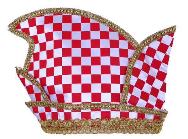 Princes hat red white checkered