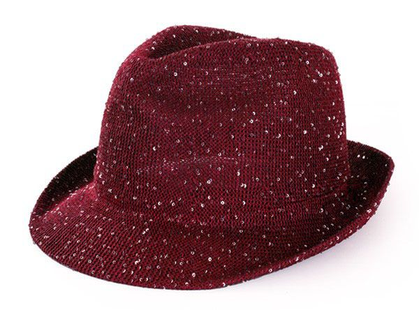 Saturday night fever glitter hat red