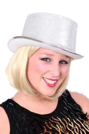 High hat lurex glitter silver