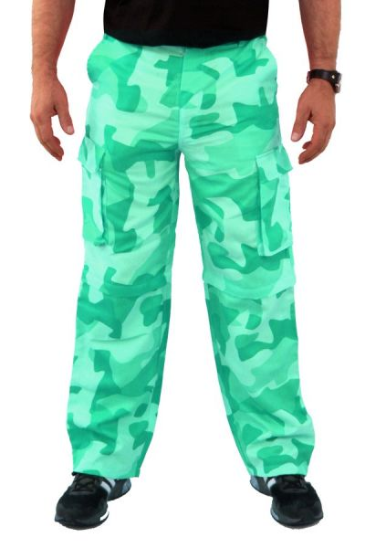 camouflage pants green