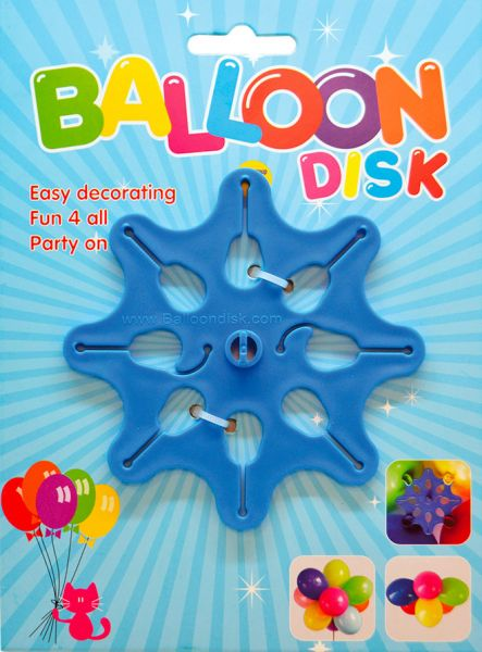 Balloon disk help for balloon decorations