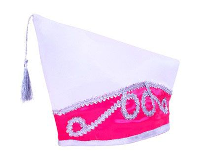 Committee hat white pink