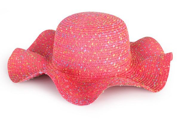 Beach hat pink lady