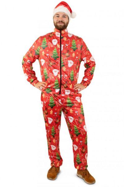 Tracksuit Merry Christmas red