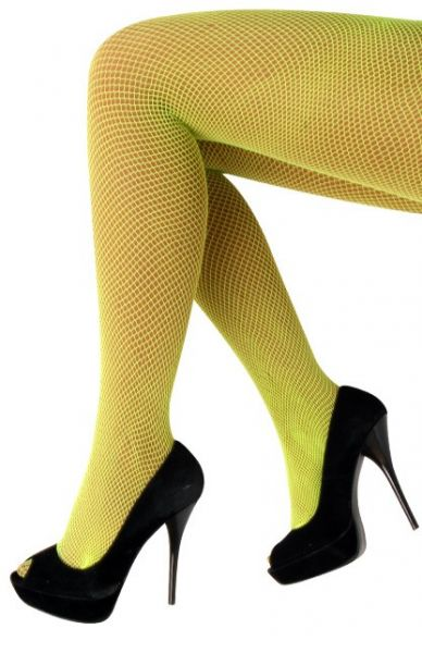 Net tights fluo yellow