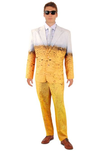 Bachelorette party outfit Beer tuxedo costume
