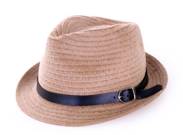 Kojac hat light brown with black belt