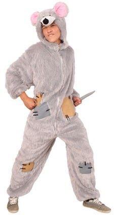 Grappige carnavalskleding Rat pluche met capuchon