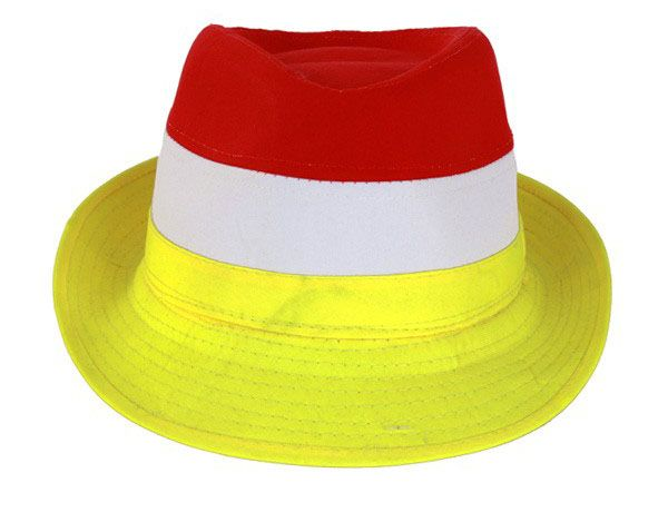 Hat red white yellow