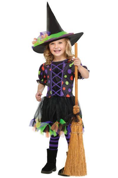 Witch Polka Dot girl dress