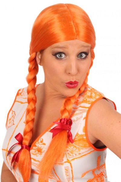 Oktoberfest Dirndl wig orange