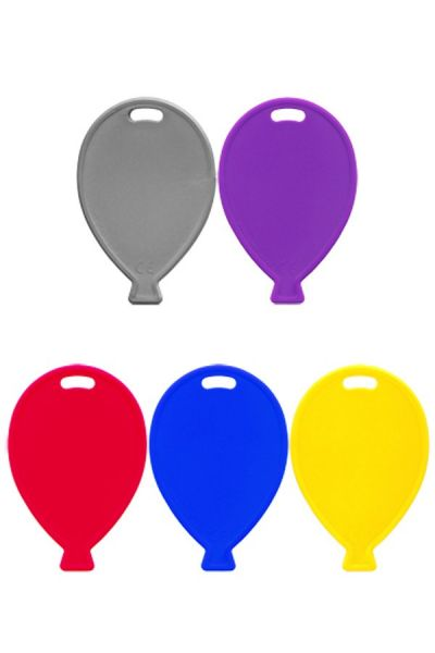 Balloon weights of plastic assorted colors per 100