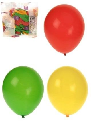 Helium balloons red yellow green