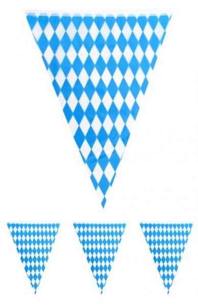 Flag line Oktoberfest blue white 10m