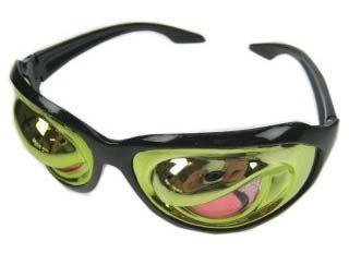 Glasses Crazy zombie eyes metallic