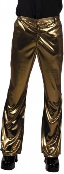 Eighties & 90s shiny gold disco pants