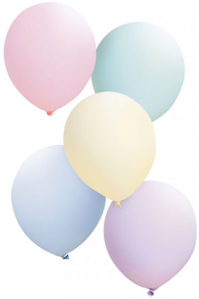 Balloons pastel colors assorted