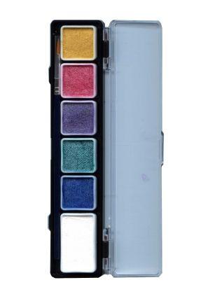 Face Paint Pallet 6 metallic colors PartyXplosion
