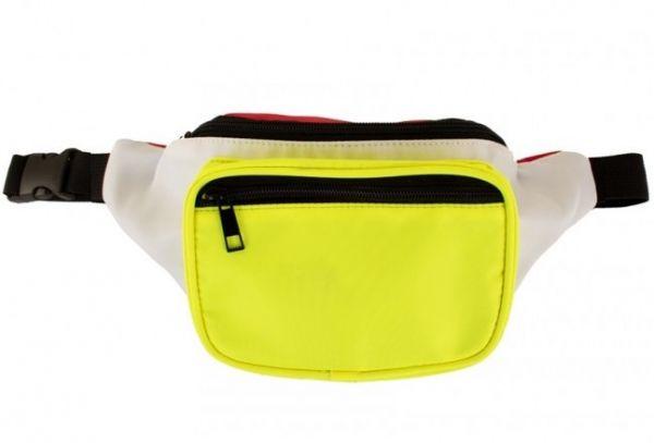 Belt bag red white yellow