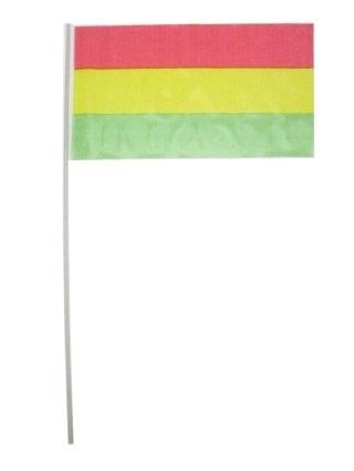 Flags on stick red yellow green