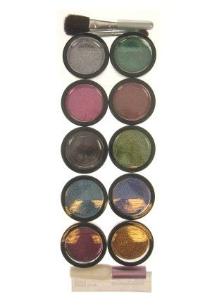 Glitter Powder 10 colors with glue brush and bristle