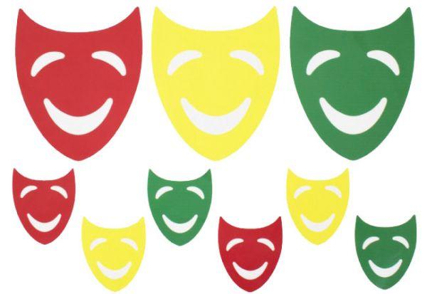 Window sticker masks red yellow green