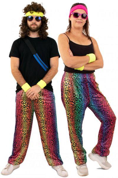Hippie Sweatpants neon leopard print