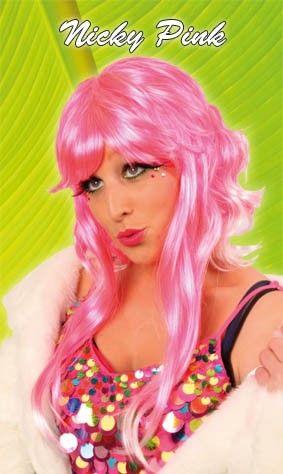 Ladies wig nicky pink