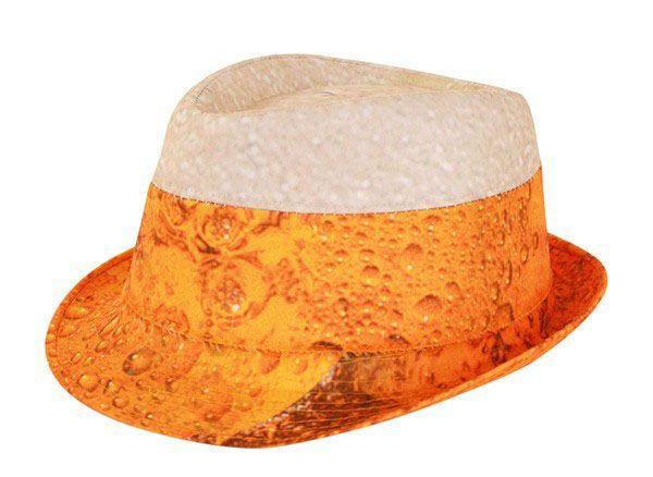 Hat of beer with foam head