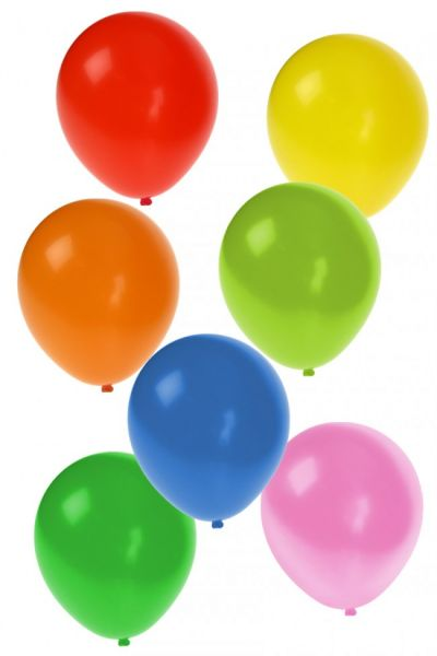 Helium balloons 100 pieces assorted colors nr 10
