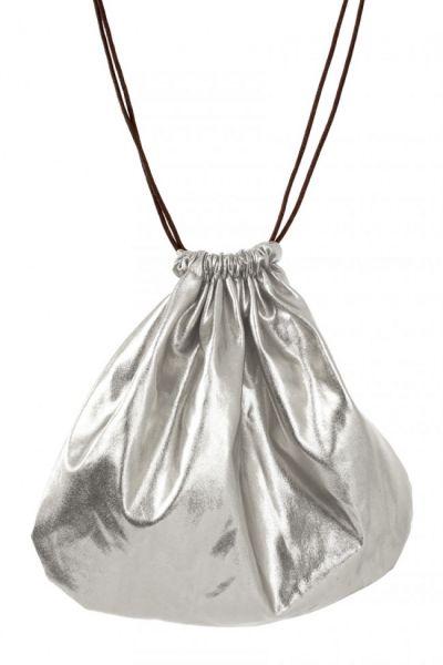 Pouch bag silver