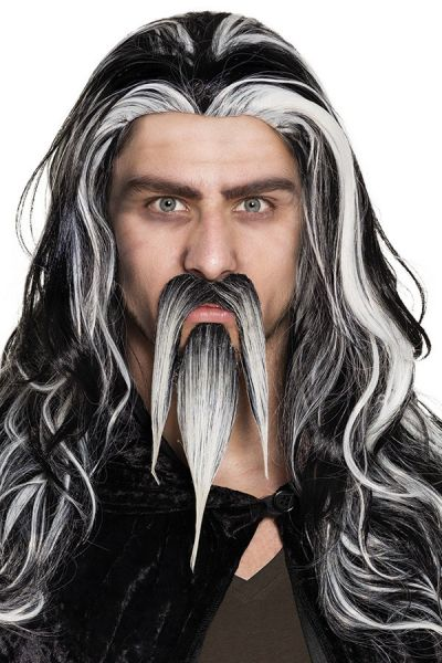 Sik with mustache gray wizard
