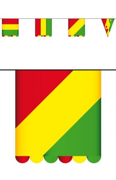 Flag line red yellow green of cardboard