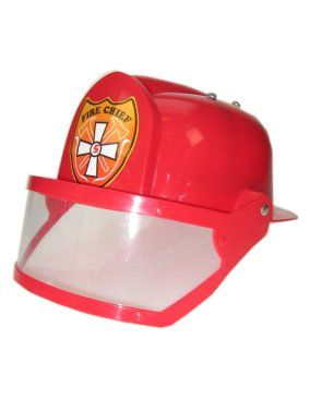 Fireman's helmet red with visor