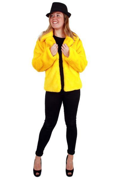 Ladies Fur Coat yellow