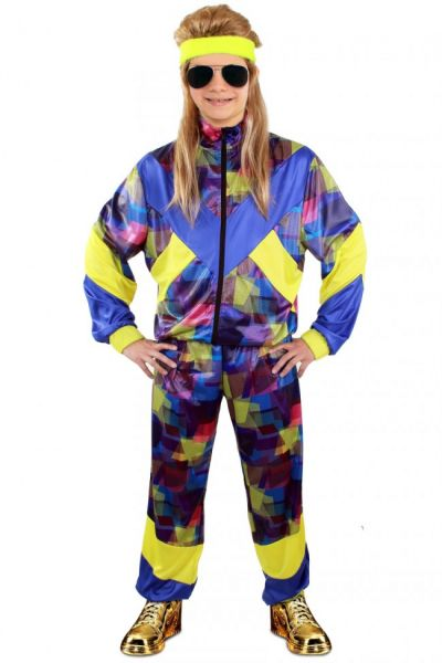 Colorful Tracksuit 80s style Child